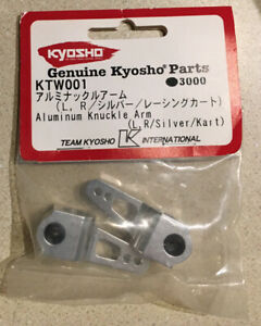 Kyosho Kart Knuckle Arm Birel Aluminum RC Mod Upgrade Cart Silver KTW001 Racing