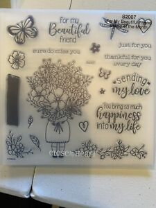 CTMH Close to My Heart Stamps - S2007 For My Beautiful Friend - New