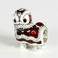 Authentic Pandora 792043 Silver 925 ALE Chinese Lion Dance Charm Bead