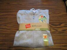 New Hanes Men's Ecosmart Fleece Zip Up Hoodie with Pockets, Gray Size M (38-40)