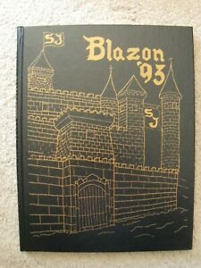 1993 St. Joseph High School Westchester IL Blazon Chargers Yearbook very clean
