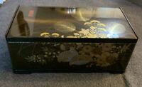 Vintage Japanese Plastic Tissue Kleenex Box Cover With Mirror Dark Brown Choc