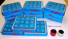 12 Dozen BLUE Chalk 144 pcs Pool Billiard Cue Q Tip Table Gross Free Scuffers!!