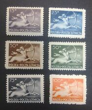 POLAND STAMPS MNH 1Fi444-49 ScC21-26 Mi479-84 - Centaur-Airline edition,1948, **