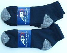 American Pride Made In USA Black Ankle Socks 6 Pairs Size 10-13 Cotton Blend