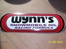 "3"" X 8"" WYNN'S Snowmobile Oil Racing Formula Sticker(Black,Red,White  NEW Vinyl)"
