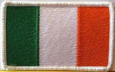 IRELAND FLAG Military Morale Patch W/ VELCRO® Brand Fastener Irish White Border