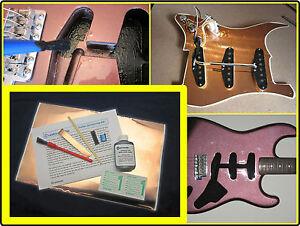 ELECTRIC GUITAR SHIELDING KIT - CONDUCTIVE PAINT COPPER FOIL PICKGUARD SHIELD