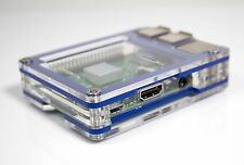 Zebra Case - Raspberry Pi3, Pi 3, Pi2, B+ 2B (True Blue) with Heatsinks ~ C4Labs