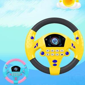 Electric Musical Copilot Stroller Steering Wheel Child Baby Kids Educational Toy