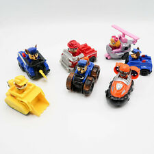 Paw Patrol Racers Lot of 7 Cars figures stay in car Rocky, Rubble Chase Race Car