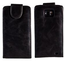 Flip Case Samsung Galaxy S2 i9100 Tasche Schwarz 2