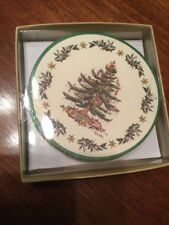 Spode Christmas Tree Round Cardboard Paper Coasters Set of 8