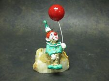 Vintage Ron Lee Hand Painted Clown Figurine With Balloon Signed 1983