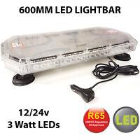 R65 Amber LED Recovery Light bar 600mm 12/24v Flashing Beacon Truck Light Strobe