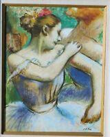 Vintage signed oil/canvas mystery artist, ballerina