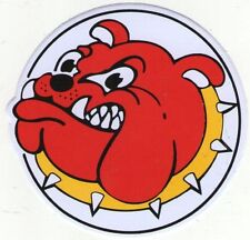 AUTOCOLLANT STICKER TUNING QUAD TETE DE BULLDOG ROUGE ET JAUNE