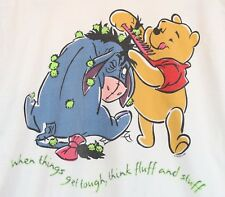 Vintage Jerry Leigh Winnie the Pooh & Eyeore T-Shirt 100% Cotton Usa Size Large