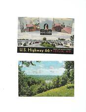 2 dif Vintage Joplin Missouri Route 66 Postcards