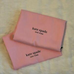 "❤️ 2 New Kate Spade 13.5""x11.5"" Handbag Bag Drawstring Pink Dust Bag"