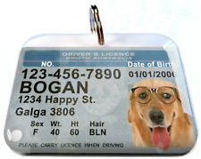 South Australia Driver License Australian dog cat tag custom Photo Id