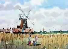 879 Catching Butterflies - Cley Mill Norfolk Landscape Ken Hayes