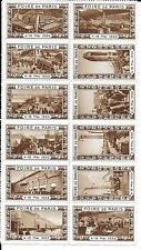FRANCE LOT 12 VIGNETTES MARRON FOIRE DE PARIS 1932