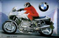 BMW K 100 RS MOTORBIKE EMBOSSED METAL ADVERTISING GARAGE MAN CAVE SIGN 30x20cm