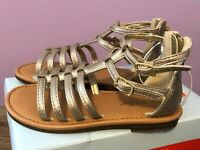 Toddler Girls' Taylor Gladiator Sandals - Cat & Jack Gold New In Box