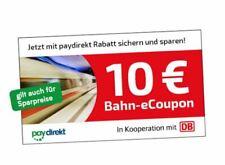 10 EUR Gutschein eCoupon, DB Deutsche Bahn ICE-EC-IC 29,90€ MBW bis 12.12.2020