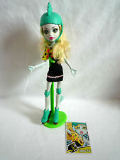 MONSTER HIGH DOLL LAGOONA BLUE SKULTIMATE ROLLER MAZE / WITH STAND & CARD
