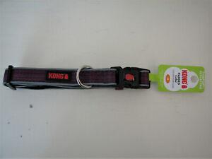 "KONG  20 Premium Dog Collar - Reflective Piping -  Purple - Med 14""- 20"" - NEW"