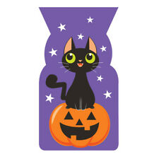 20 x Halloween Black Cat Party Loot Bags Cello treat favour Trick or Treat Bags