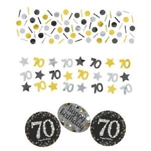 70's Confetti Sparkling Celebration 1.2 oz 70th Happy Birthday Decorations