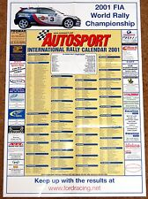 Autosport 2001 RALLY CALENDAR - WRC, International, British, Irish Tarmac etc