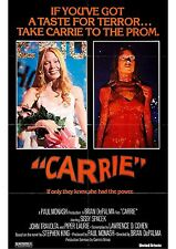 Carrie - Stephen King - A4 Laminated Mini Movie Poster