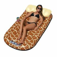 Swimline 90353 Wild Things Inflatable Giraffe Print Pool Float Lounger Mat