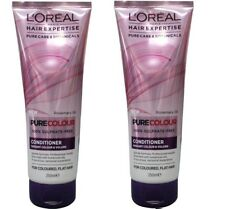 2 x LOREAL 250mL HAIR EXPERTISE PURE COLOUR CONDITIONER RADIANT COLOUR & VOLUME