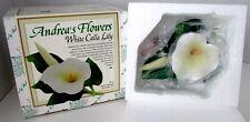 New Andrea by Sadek White Calla Lily Andrea's Flowers Fine Porcelain Art 18870