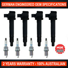 4x Genuine NGK Iridium Spark Plugs & 4x Ignition Coils for Toyota Corolla Celica