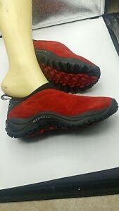 Merrell Jungle Moc Red Sunset Womens Suede Casual Shoes Ladies Size 7 (SCUFFS)