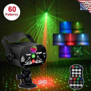 60 Patterns LED RGB Laser Stage Light Projector DJ Disco KTV Show Party Lighting