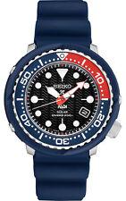 New Seiko Solar Padi Diver 200M Black Dial Silicone Strap Men's Watch SNE499