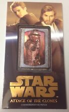 STAR WARS ATTACK OF THE CLONES 3D WIDEVISION ZAM WESELL PATCH CARD MP-9 27/50