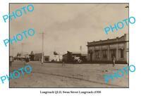 OLD 8x6 PHOTO LONGREACH QUEENSLAND VIEW OF SWAN STREET c1930