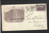 "SYRACUSE, NEW YORK, 1894 #231 COLUMBIAN ILLUST ADVT. HOTEL COVER, ""THE YATES""."