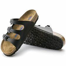 Birkenstock Florida Sandalen Weichbettung normal schwarz Pantoletten 053011 NEU