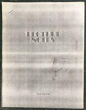 Vintage Paul Gertner Magic Lecture Notes