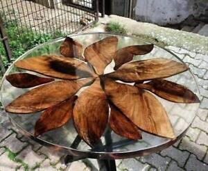 "36"" epoxy Resin table, epoxy Corner Wooden table top Home Room Decor"