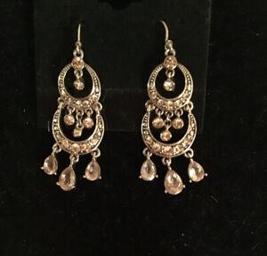 Monet Crystal Chandelier Drop Earrings